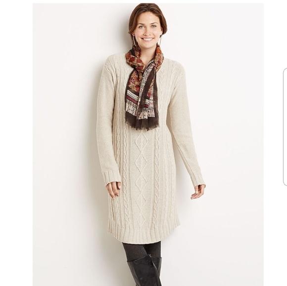ee96d6e947 J. Jill Dresses   Skirts - J.Jill Cable Sweater Dress in Wheat Heather
